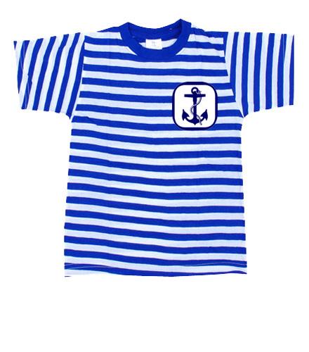 Námořnické triko s kotvou 2 - Pruhovaná trička dámská