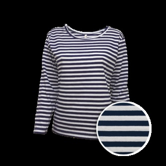 Dámské námořnické tričko dlouhý rukáv - Pruhovaná trička dámská