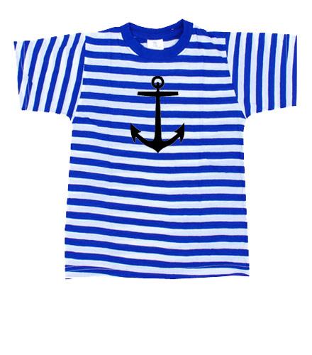 Námořnické tričko s kotvou - Pruhovaná trička pánská