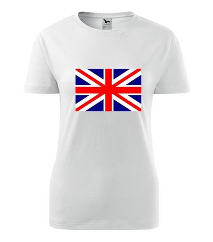 Tričko s anglickou vlajkou dámské - Trička s vlajkou dámská