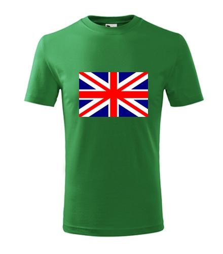 Tričko s anglickou vlajkou dětské - Trička s vlajkou dětská