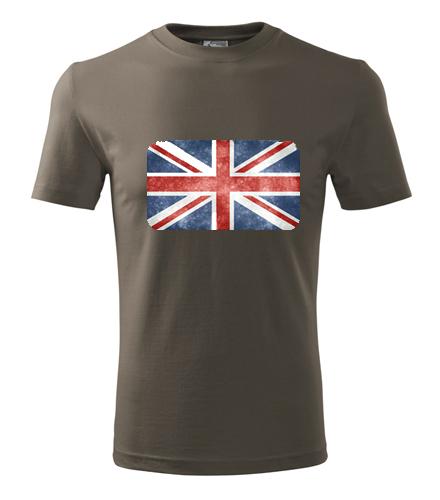 Tričko s anglickou vlajkou pánské - Trička s vlajkou pánská