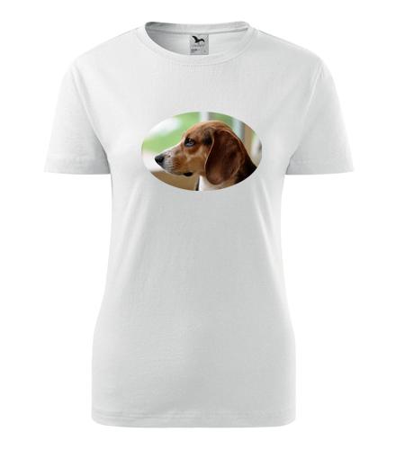 Dámské tričko s bíglem - Dárky pro chovatelky psů