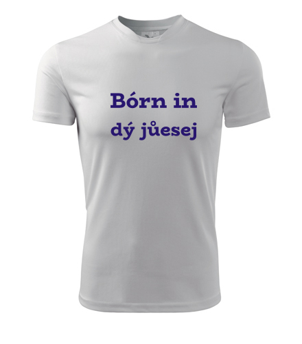 Tričko Bórn in dý jůesej - Trička Born in pánská