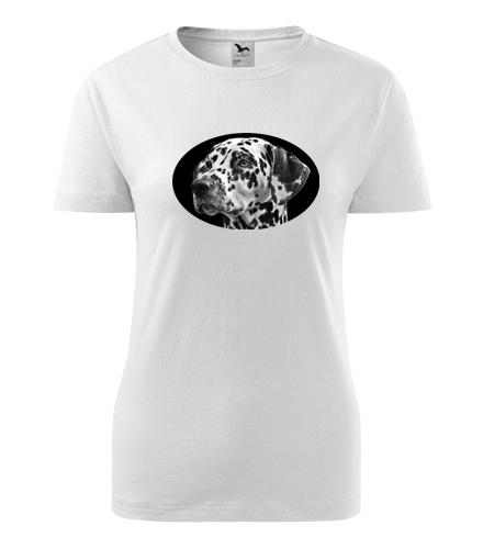 Dámské tričko s dalmatinem - Dárky pro chovatelky psů