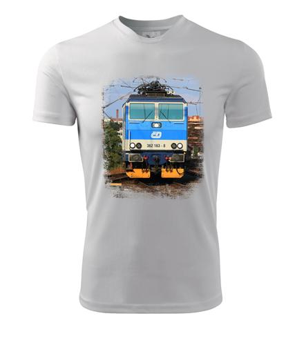 Tričko s lokomotivou Eso 362.163 - Dárek pro příznivce železnice