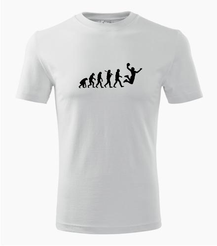 Tričko evoluce basketbal - Trička dle zájmů dámská