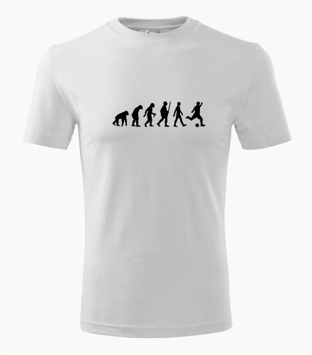 Tričko evoluce fotbal - Dárek pro fanouška fotbalu