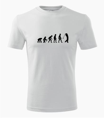 Tričko evoluce golf - Dárek pro golfistu