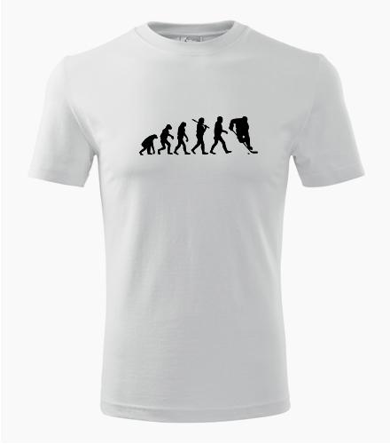 Tričko evoluce hokej - Dárek pro fanouška hokeje