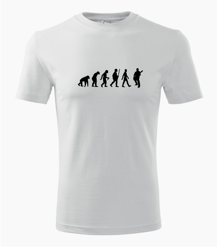 Tričko evoluce kytarista - Dárek pro kytaristu