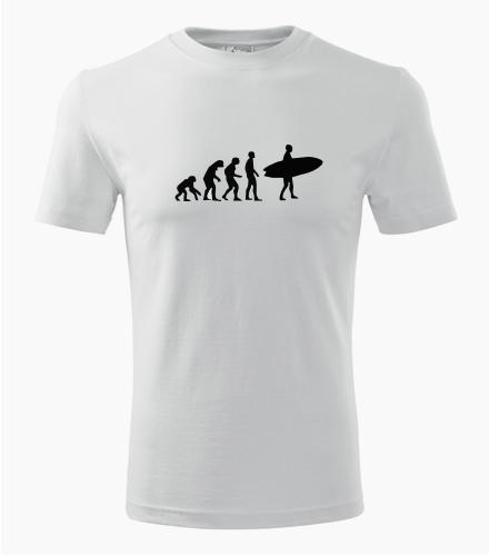 Tričko evoluce surfař - Dárek pro surfaře