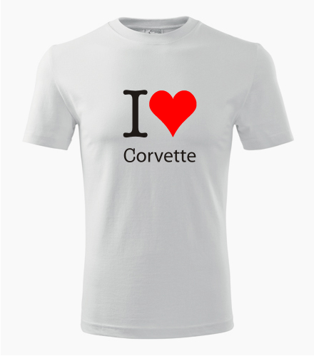 Tričko I love Corvette - Dárek pro příznivce aut