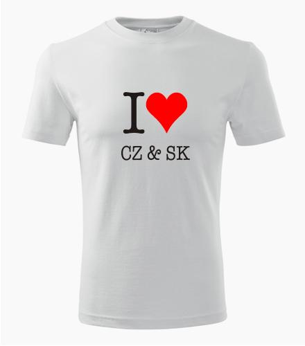 Tričko I love CZ & SK