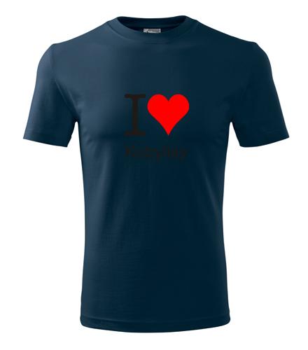 Tričko I love Kobylisy námořní modrá