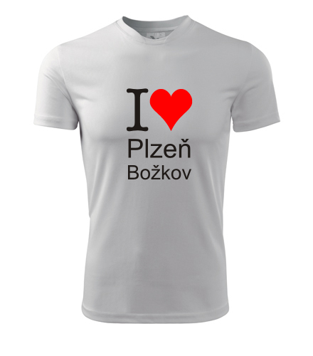 Tričko I love Plzeň Božkov