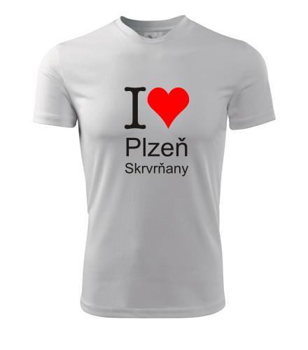 Tričko I love Plzeň Skvrňany - I love plzeňské čtvrti