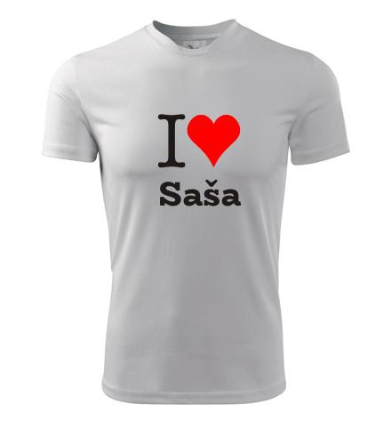 Tričko I love Saša - I love mužská jména pánská