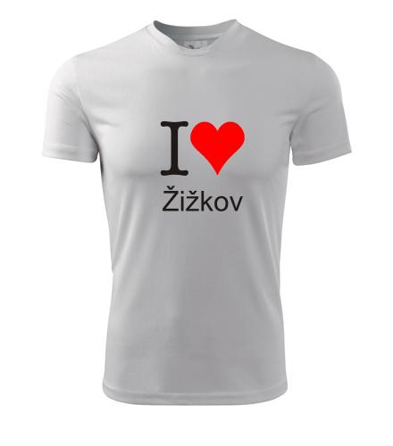 Tričko I love Žižkov - I love pražské čtvrti