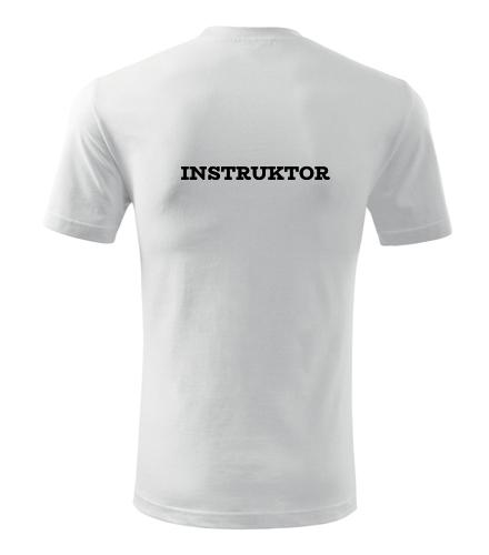 Tričko instruktor - Dárek pro instruktora