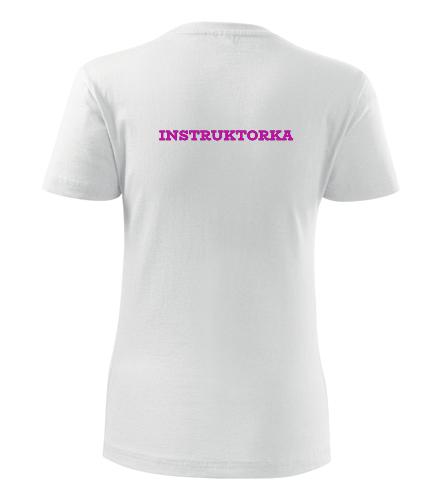 Tričko instruktorka dámské - Dárek pro instruktora