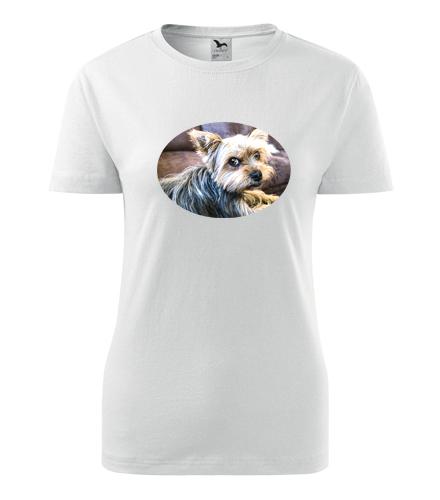 Dámské tričko s jorkšírem - Dárky pro chovatelky psů