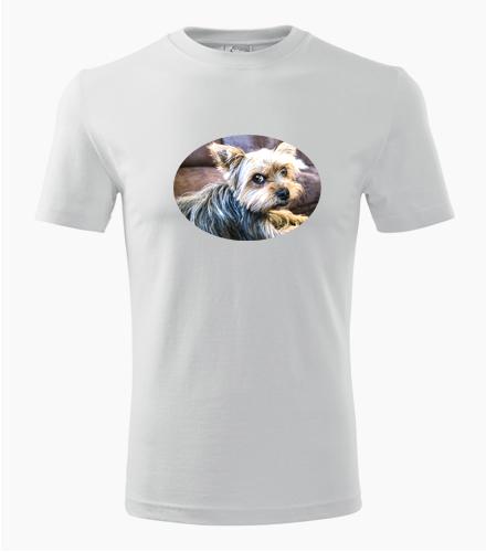 Tričko s jorkšírem - Trička se zvířaty pánská