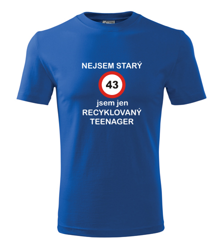 Tričko jsem recyklovaný teenager 43 - Dárek pro muže k 43