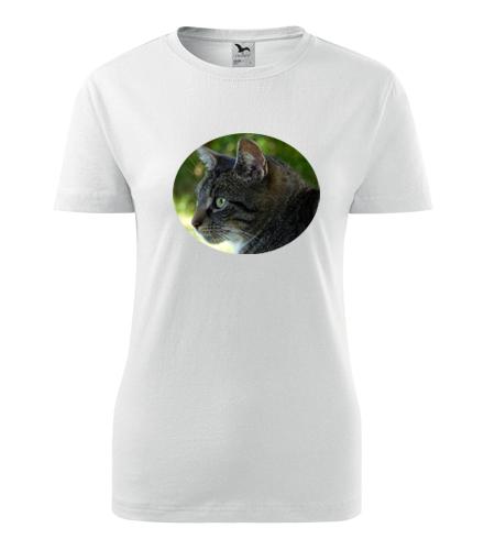 Dámské tričko s kočkou 2 - Trička se zvířaty dámská
