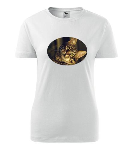 Dámské tričko s kočkou 3 - Dárky pro chovatelky koček