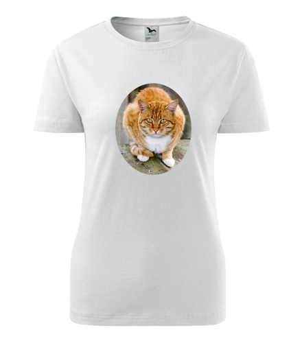 Dámské tričko s kočkou 5 - Trička se zvířaty dámská