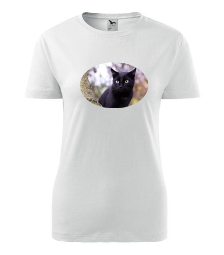 Dámské tričko s kočkou 6 - Dárky pro chovatelky koček