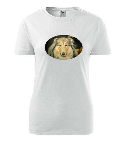 Dámské tričko s kolií - Dárky pro chovatelky psů