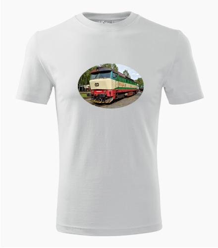 Tričko s lokomotivou 749 Bardotka - Dárek pro příznivce železnice