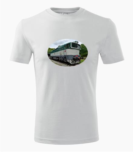 Tričko s lokomotivou 750 Brejlovec 2 - Dárek pro železničáře