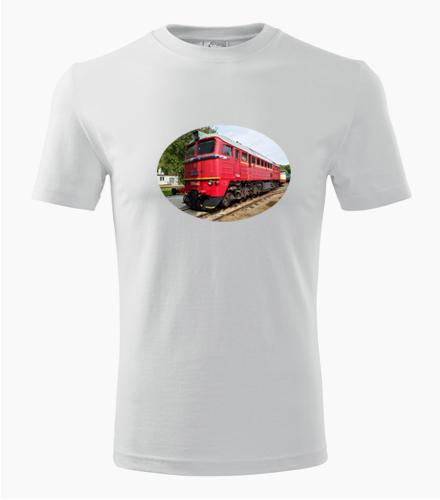 Tričko s lokomotivou 781 Sergej - Dárek pro železničáře