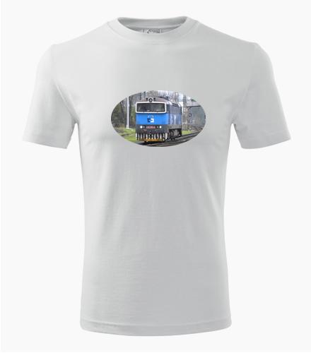 Tričko s lokomotivou Brejlovec - Dárek pro příznivce železnice