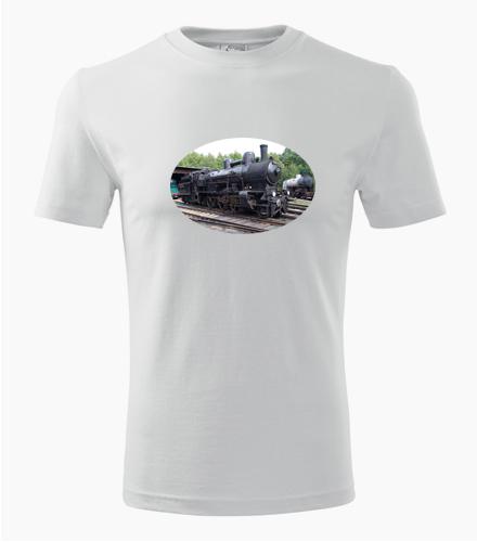 Tričko s parní lokomotivou 354 - Dárek pro příznivce železnice