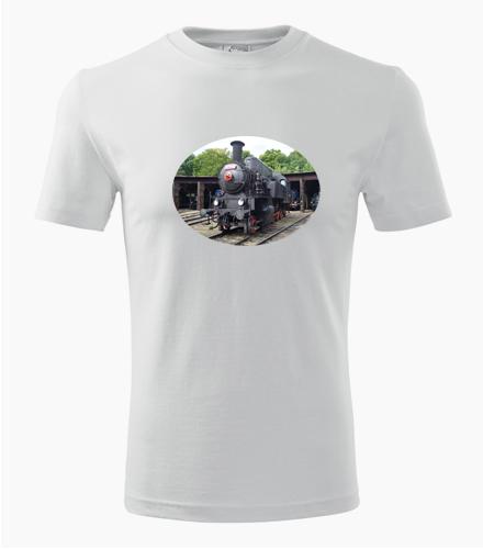 Tričko s parní lokomotivou 423 - Dárek pro železničáře