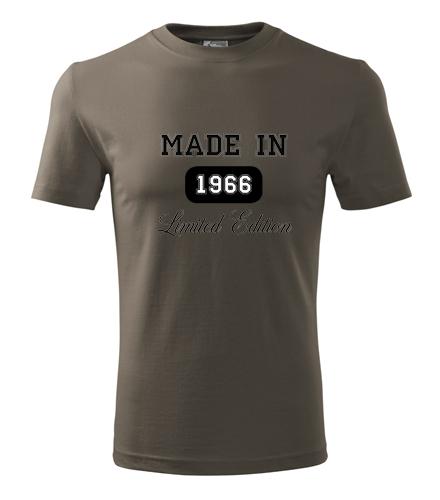 Dárek pro muže k padesátinám Tričko Made in + rok narození army