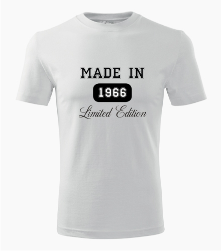 Tričko Made in + rok narození - Dárek pro muže k 21