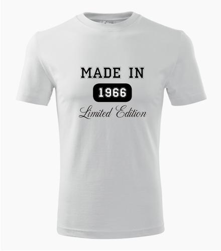Tričko Made in + rok narození