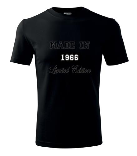 Dárky k padesátce pro muže Tričko Made in + rok narození černá