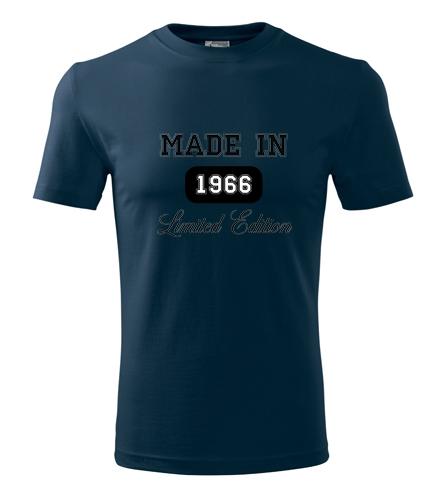 Darek k 40 pro muže Tričko Made in + rok narození námořní modrá