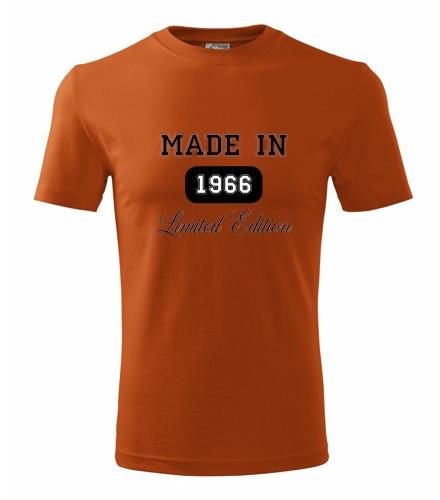 Dárek k padesátinám pro muže Tričko Made in + rok narození oranžová