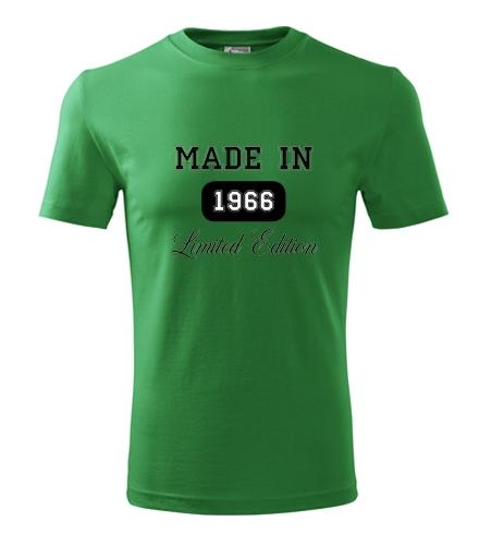 dárek k promoci pro muže Tričko Made in + rok narození střední zelená