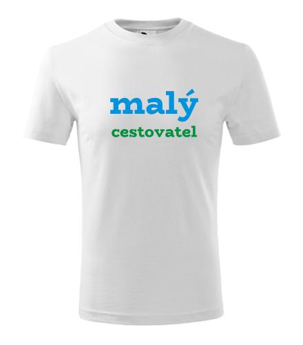 Dětské tričko malý cestovatel - Vtipná dětská trička