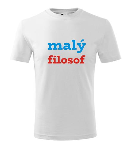 Dětské tričko malý filosof - Vtipná dětská trička