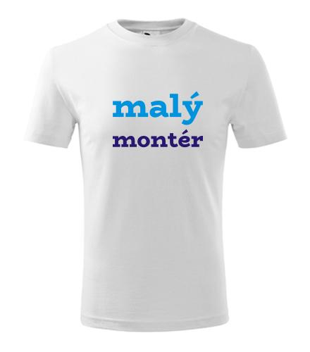 Dětské tričko malý montér - Vtipná dětská trička