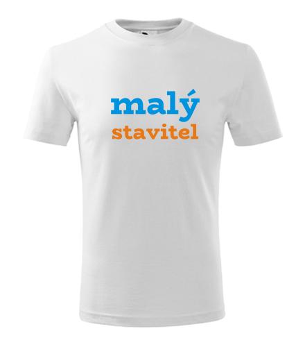 Dětské tričko malý stavitel - Vtipná dětská trička